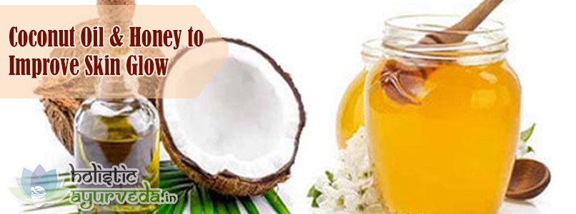 Coconut Oil and Honey to Improve Skin Glow